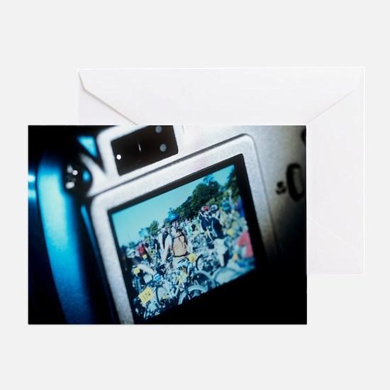 Screen on a digital camera - Greeting Card