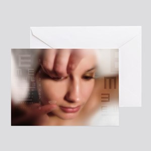 Contact lens use, conceptual image - Greeting Card