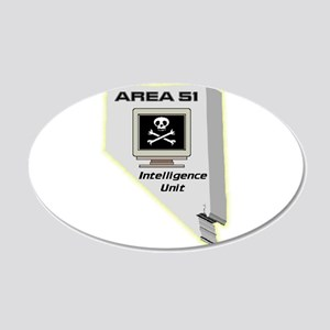 Area 51 Intelligence Unit 20x12 Oval Wall Decal