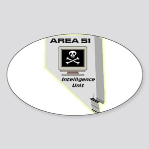 Area 51 Intelligence Unit Sticker (Oval)