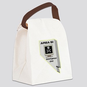 Area 51 Intelligence Unit Canvas Lunch Bag