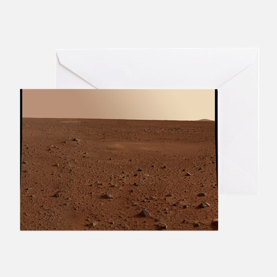 Mars surface from Spirit - Greeting Card