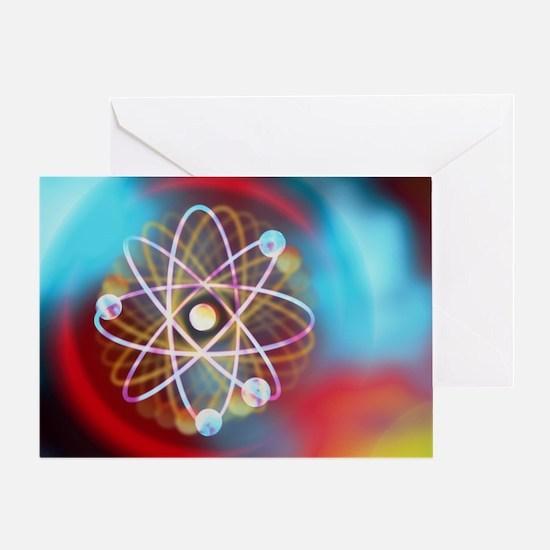 Art representing a beryllium atom - Greeting Card