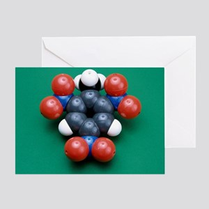 TNT molecule - Greeting Card