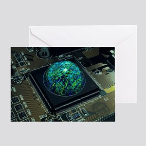 Brain on a chip - Greeting Card