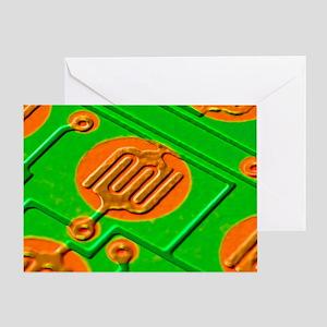 Circuit board, SEM - Greeting Card
