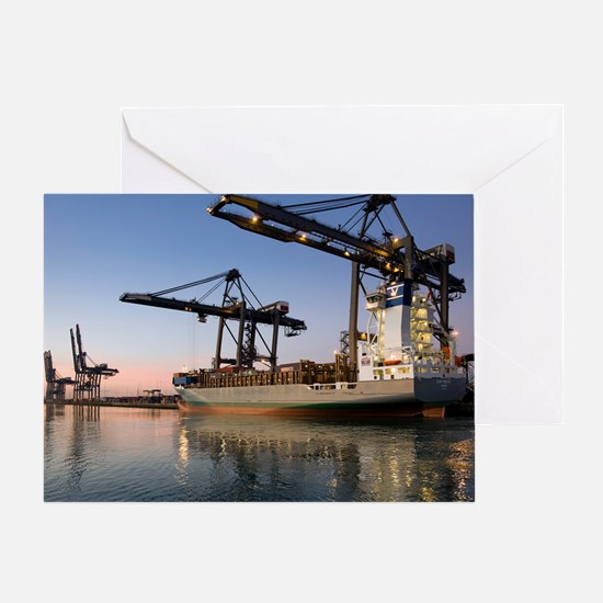 Container ship - Greeting Card
