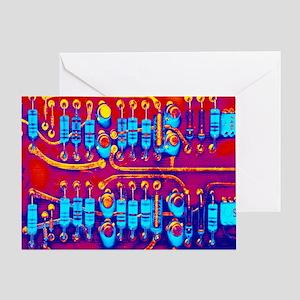 Computer circuit board - Greeting Card