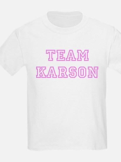 Pink team Karson Kids T-Shirt
