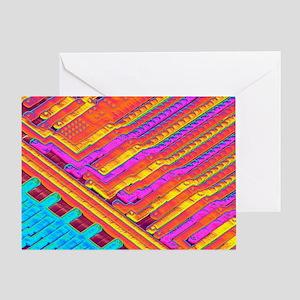 Microchip surface, SEM - Greeting Card