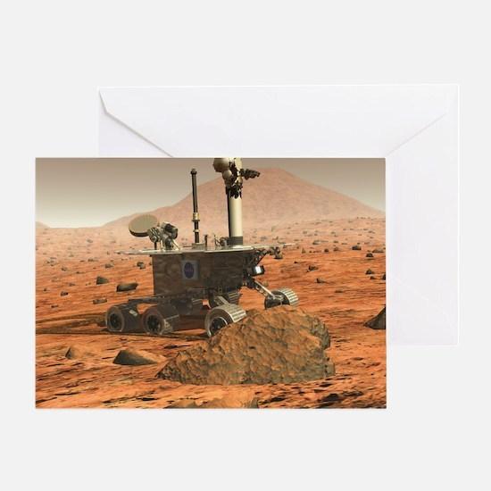 Mars Spirit rover - Greeting Card