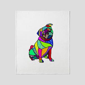 Designed Pug Throw Blanket