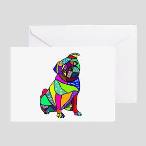 Designed Pug Greeting Card
