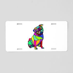 Designed Pug Aluminum License Plate