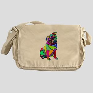 Designed Pug Messenger Bag