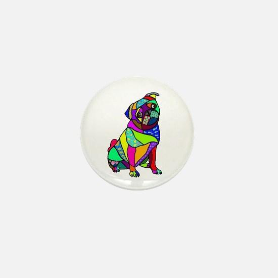 Designed Pug Mini Button
