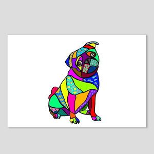 Designed Pug Postcards (Package of 8)