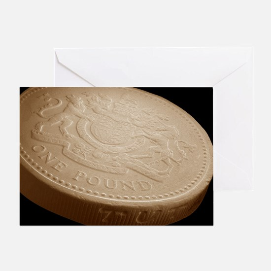 One pound coin, SEM - Greeting Card