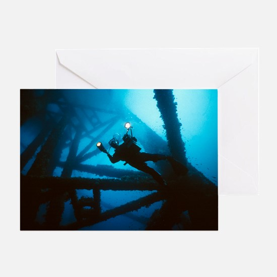 Scuba diver - Greeting Card