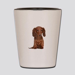 Painted Red Doxie Shot Glass
