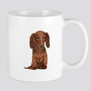 Painted Red Doxie Mug