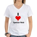I Heart Spencer Reid 1 Women's V-Neck T-Shirt