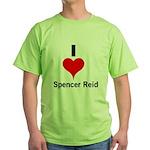 I Heart Spencer Reid 1 Green T-Shirt