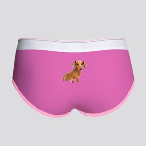 Painted Red Doxie Smooth Hair Women's Boy Brief