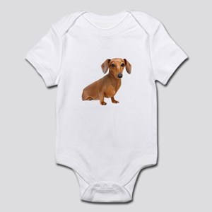 Painted Red Doxie Smooth Hair Infant Bodysuit