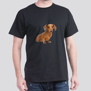 Painted Red Doxie Smooth Hair Dark T-Shirt
