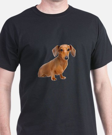 Painted Red Doxie Smooth Hair T-Shirt