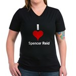 I Heart Spencer Reid white 1 Women's V-Neck Da