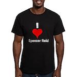 I Heart Spencer Reid white 1 Men's Fitted T-Sh