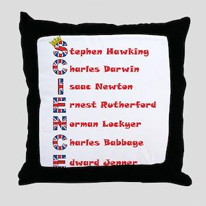 Science Thanks The English! Throw Pillow