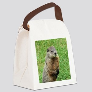 Woodchuck Eating Canvas Lunch Bag