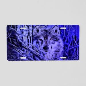 Night Warrior Wolf Aluminum License Plate