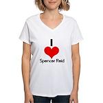 I Heart Spencer Reid 2 Women's V-Neck T-Shirt
