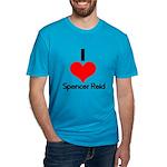 I Heart Spencer Reid 2 Men's Fitted T-Shirt (d