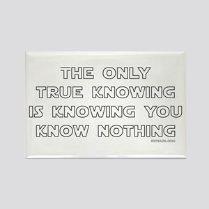 You Know Nothing-Socrates Rectangle Magnet