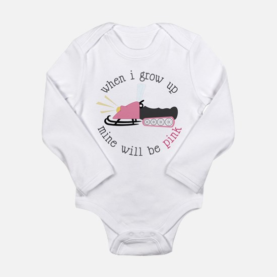 When I Grow Up Long Sleeve Infant Bodysuit
