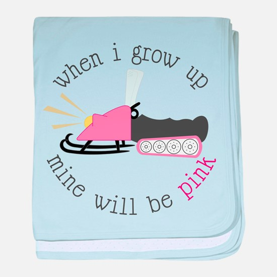 When I Grow Up baby blanket