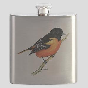 Baltimore Oriole Flask