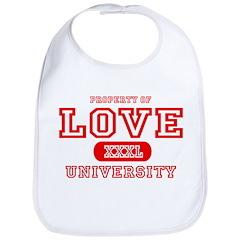 Love University Property Bib