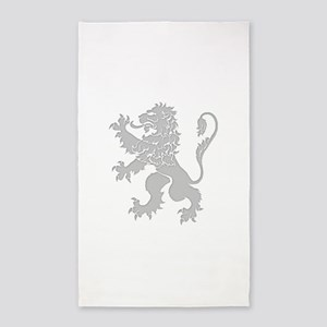 Grey Lion Rampant 3'x5' Area Rug
