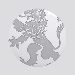 Grey Lion Rampant Ornament (Round)