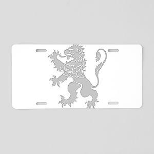 Grey Lion Rampant Aluminum License Plate