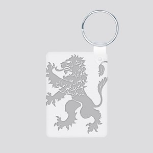Grey Lion Rampant Aluminum Photo Keychain