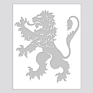 Grey Lion Rampant Small Poster