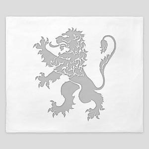 Grey Lion Rampant King Duvet