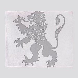 Grey Lion Rampant Throw Blanket